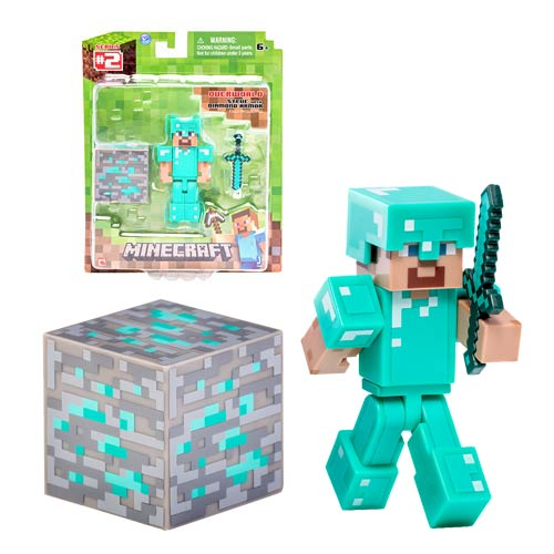 Minecraft Steve with Diamond Armor Action Figure
