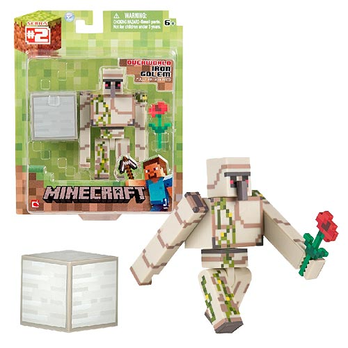 Minecraft Population Iron Golem Pack 3-Inch Action Figure