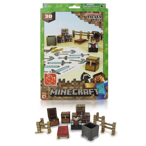 Minecraft Papercraft Utility Pack 30-Piece Set