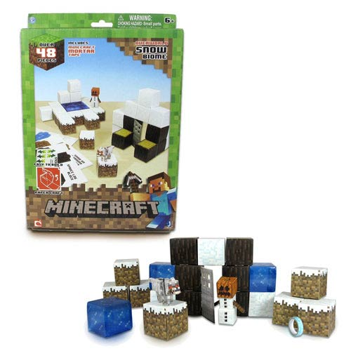 Minecraft Papercraft Snow Set 48-Piece Pack
