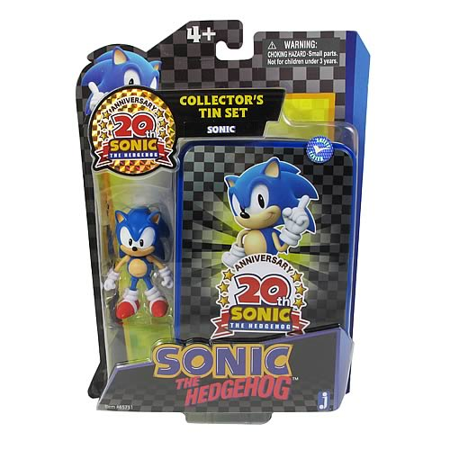 Sonic the Hedgehog 20 Anniv. Sonic Collector Tin with Figure