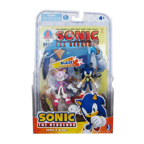 Sonic the Hedgehog Sonic and Blaze Action Figures and Comic