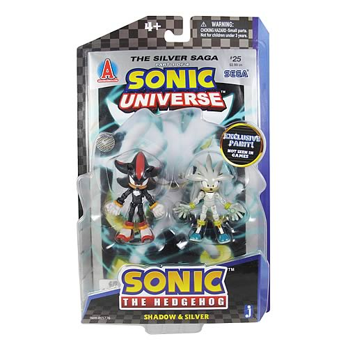 Sonic the Hedgehog 20th Anniv. Shadow and Silver Figures