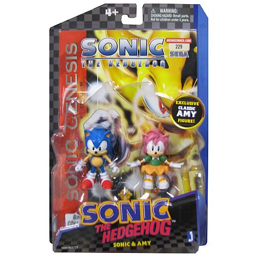 Sonic the Hedgehog Comic Pack Amy and Sonic Action Figures