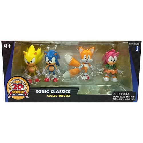 Sonic the Hedgehog 20th Anniversary Classic Figure 4-Pack