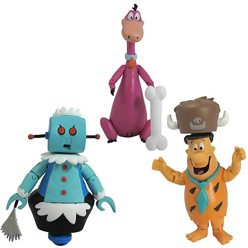 Hanna-Barbera Flintstones and Jetsons 3-Inch Figure Set