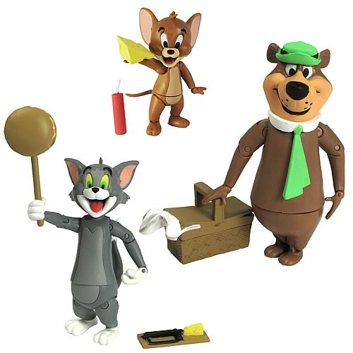 Hanna-Barbera Tom & Jerry and Yogi Bear Action Figures Set