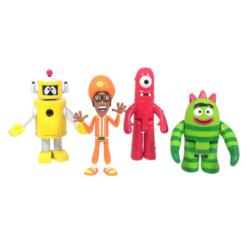 Yo Gabba Gabba 3-Inch Action Figure 4-Pack
