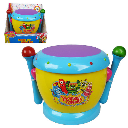 Yo Gabba Gabba Music Drums with Light-Up Sticks