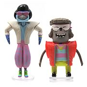 Regular Show 3-Inch 1980s Bobble Heads with Glasses Case