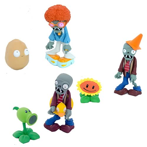 Plants vs. Zombies 3-Inch Action Figure with Accessory Set
