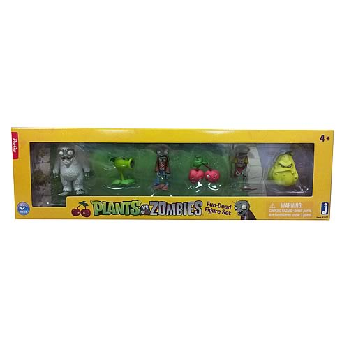 Plants vs. Zombies 2-Inch Mini-Figure 6-Pack