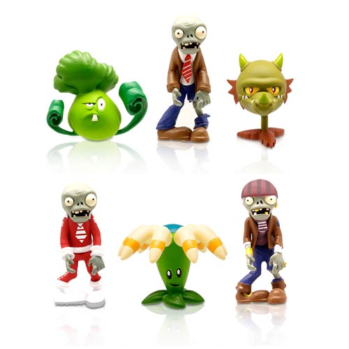Plants vs. Zombies 2-Inch Wave 2 Mini-Figure 6-Pack