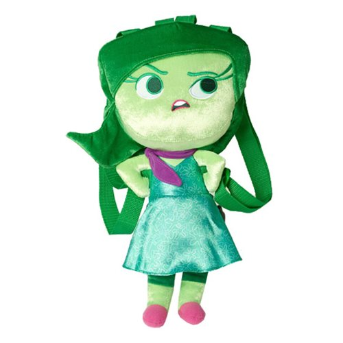 Inside Out Disgust Plush Backpack