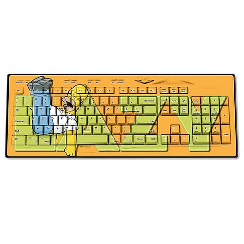 Simpsons Homer Lazy Wireless Keyboard