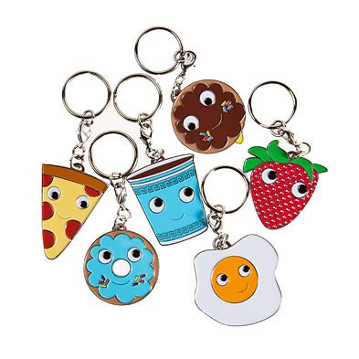 Kidrobot Yummy Breakfast Enamel Key Chain Display Box