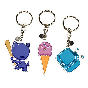 MUNNYworld Enamel Key Chain 5-Pack