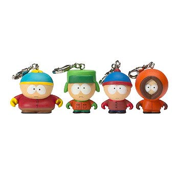 South Park Zipper Pull Vinyl Key Chain 4-Pack