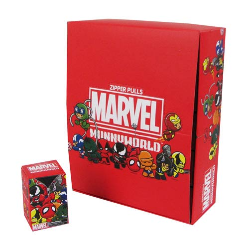 Marvel MUNNY Zipper Pull Vinyl Key Chain 4-Pack