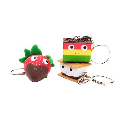 Kidrobot YUMMY Dessert Figural Key Chain Display Box