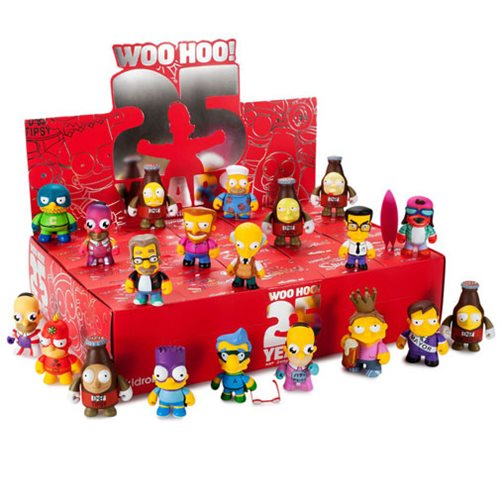 Simpsons 25th Anniversary 3-Inch Vinyl Mini-Figure Display