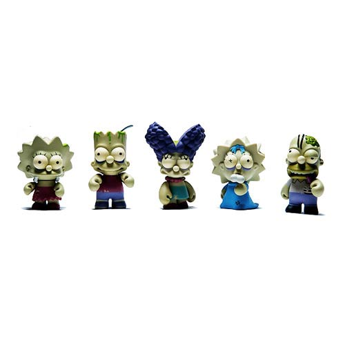 The Simpsons Zombie Family Vinyl Mini-Figure 5-Pack