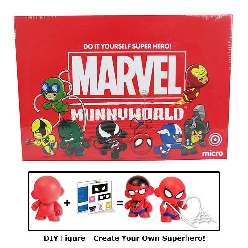 Marvel Micro MUNNY Vinyl DIY Mini-Figure Display Box