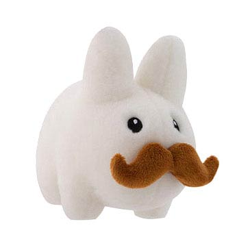 Labbit White Stache 7-Inch Plush