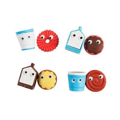 Kidrobot Yummy Breakfast Eraser 2-Pack Display Box