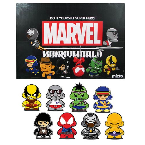 Marvel Micro MUNNY Vinyl DIY Mini-Figure Series 2 4-Pack