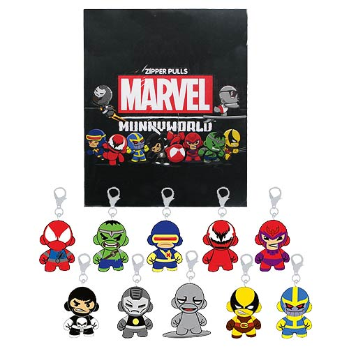 Marvel MUNNY Zipper Pull Vinyl Key Chain Series 2 4-Pack