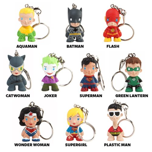 DC Universe Key Chain Random 4-Pack