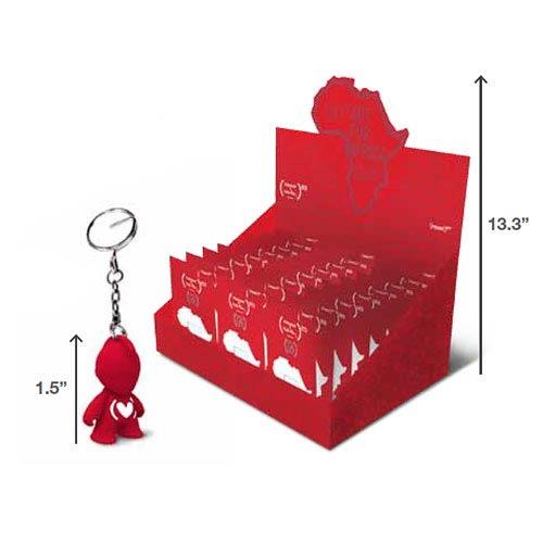 Kidrobot x (Red) Bot Mascot Vinyl Figure Key Chain