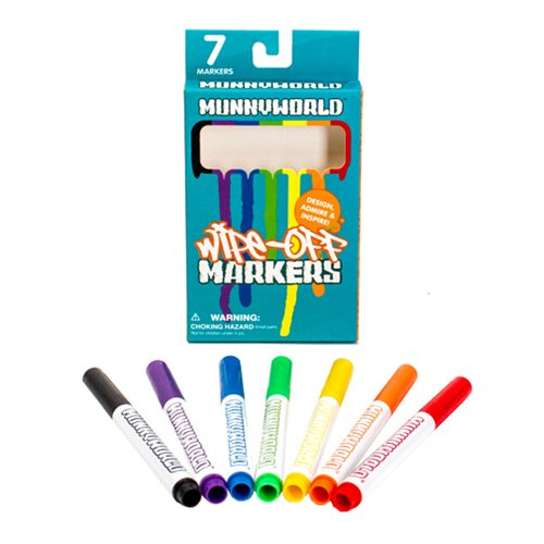 MUNNY Wipe-Off Markers 7-Pack