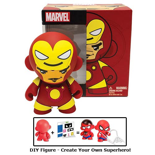 Marvel Mini MUNNY Iron Man Tony Stark DIY Vinyl Figure