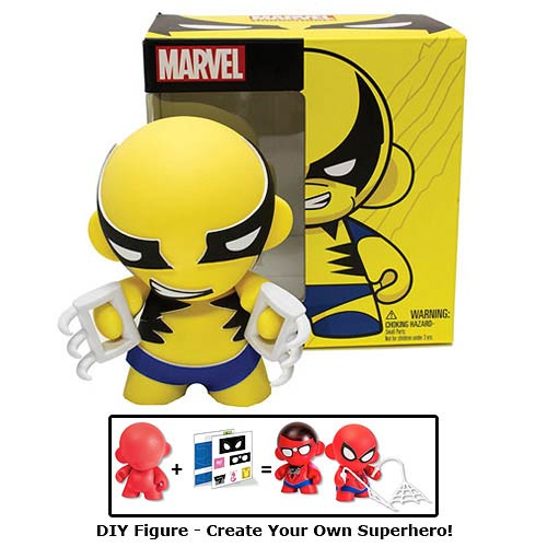 Marvel Mini MUNNY Wolverine DIY Vinyl Figure