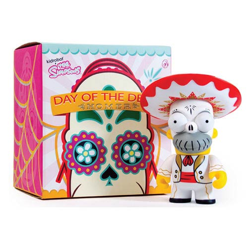 The Simpsons Homer Day of the Dead Mariachi Vinyl Figure