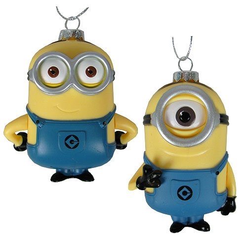 Despicable Me Dave and Carl Figural Ornament Set