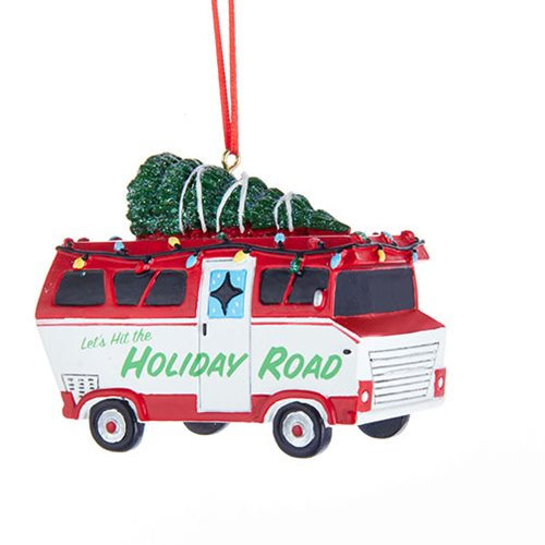 Let's Hit the Holiday Road Camper Ornament