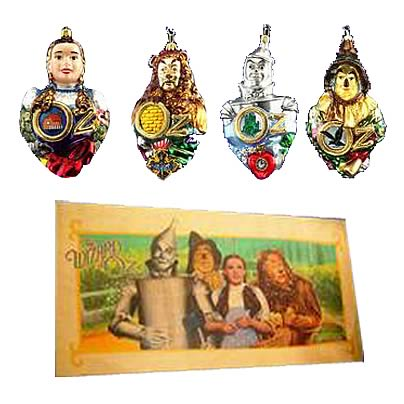 Wizard of Oz Polonaise Glass Ornaments