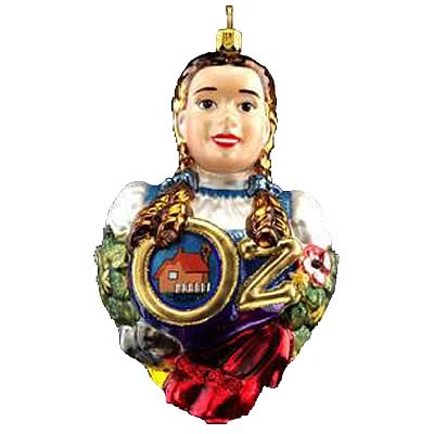 Wizard of Oz Dorothy Polonaise Glass Ornament