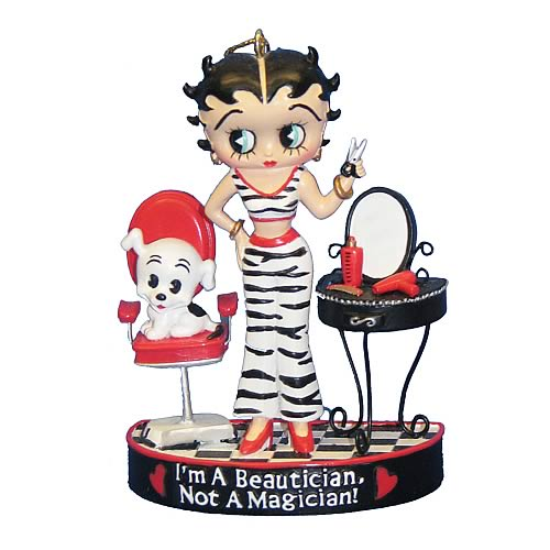 Betty Boop Beautician 3 1/4-Inch Resin Ornament