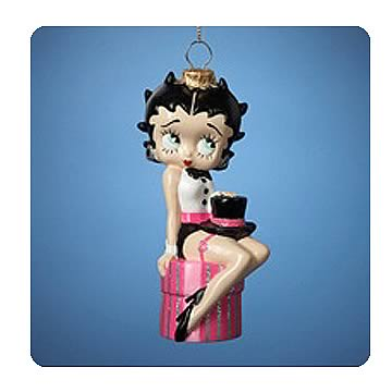 Betty Boop in Tuxedo 5-Inch Glass Ornament