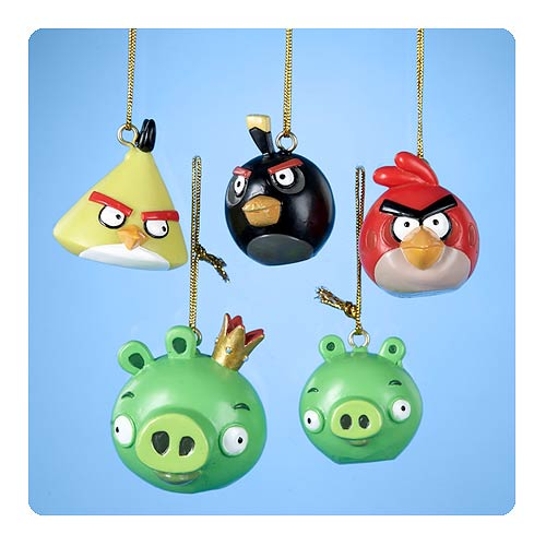 Angry Birds 1 3/4-Inch 5-Pack Mini Ornaments