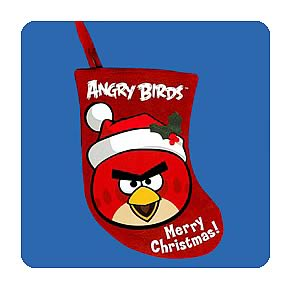 Angry Birds 6 1/2-Inch Mini Applique Stocking