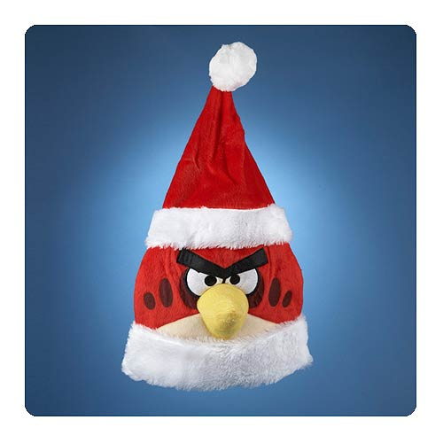 Angry Birds Red Bird  Santa Hat