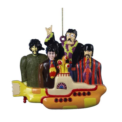 Beatles Yellow Submarine Resin Ornament