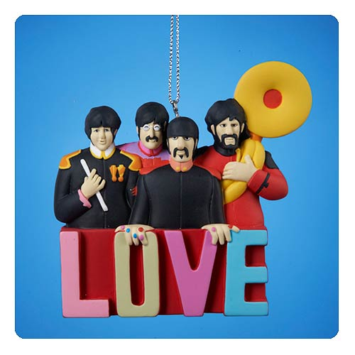 Beatles Yellow Submarine Sgt. Pepper Band Love Ornament