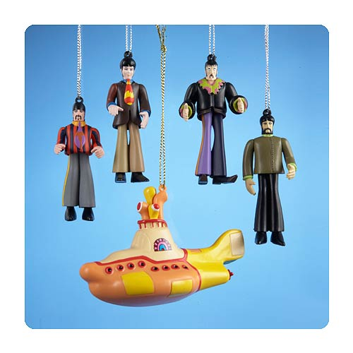 Beatles Yellow Submarine Gift Box 5-Pack Ornaments