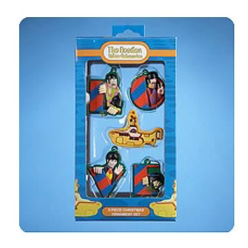 Beatles Yellow Submarine 5-Pack Mini Ornaments